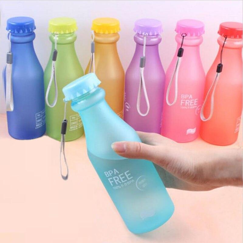 Конфеты цвета Небьющийся матовый герметичный пластиковый чайник 550 мл BPA бесплатно переносная бутылка для воды для путешествий Йога Бег кем...