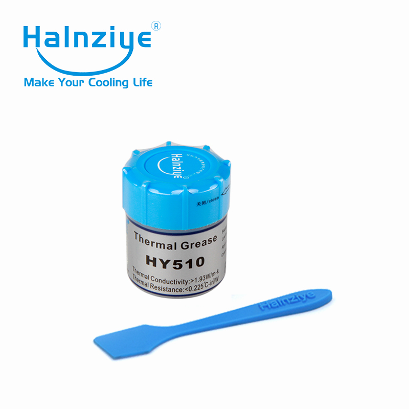 40pcs/Lot! free shipping !HY 510 10g silicone gray Thermal Paste Heatsink Compound in bottle with cleaning cloth&scraper