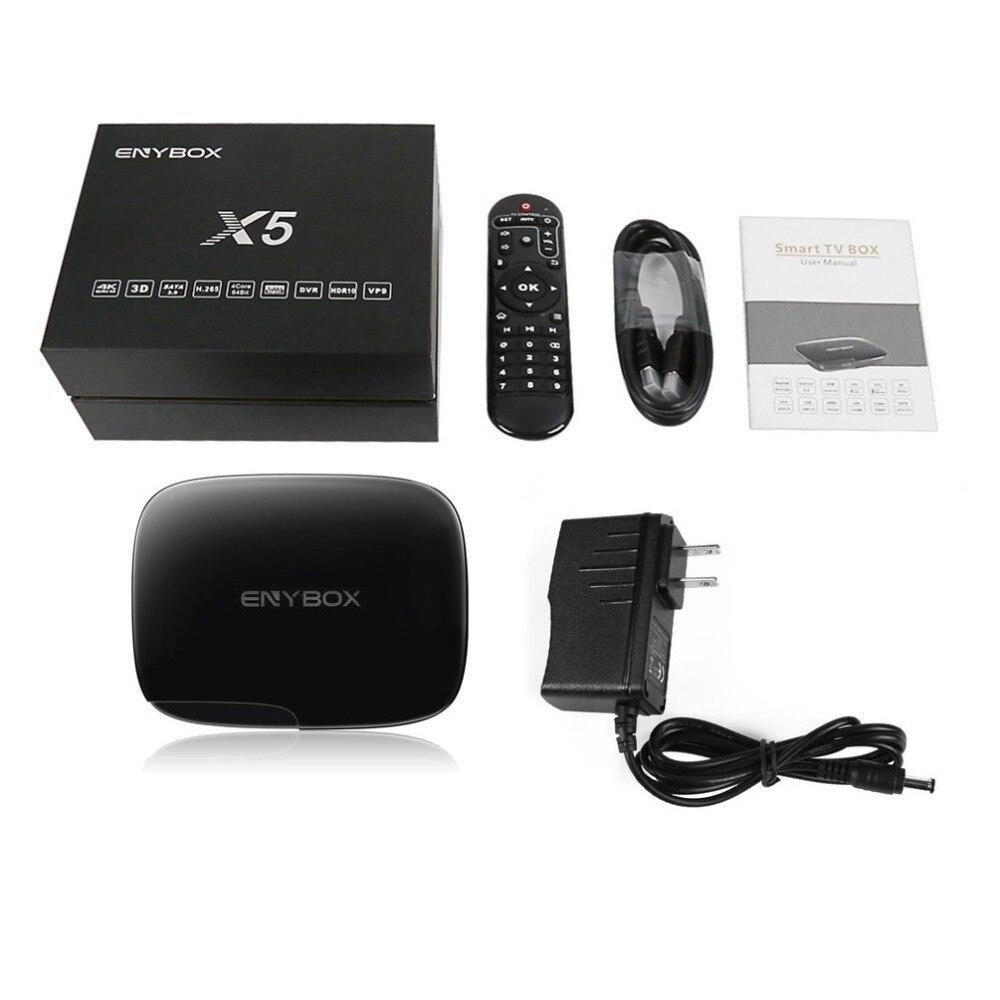 Здесь продается  Enybox X5 Smart TV Box Realtek RTD1295 Quad-core Android TV Box with USB 3.0 HDMI Multiple Format Smart TV Box US EU AU Plug  Бытовая электроника