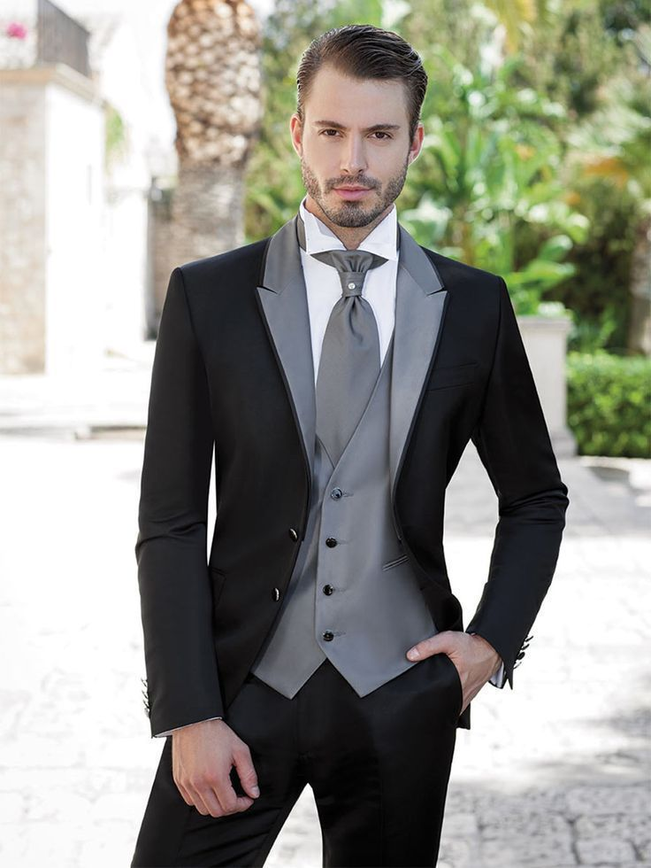 Top sales new white coat and black satin lapels the groom&39s best