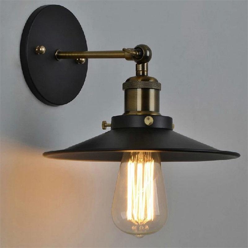Винтажная настенная лампа с аппликацией Murale, светильник Wandlamp, Lamparas de Pared, внутреннее бра, лампа для спальни, AC85 265V, ретро настенный светильник