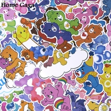 Homegaga 53pcs Care bears DIY Pvc Waterproof Cartoon For scrapbooking album Luggage Skateboard Phone Wall Guitar Stickers D1384