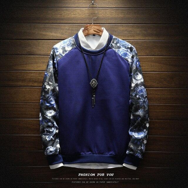 Men Sweatshirt Floral Printed Streetwear  1