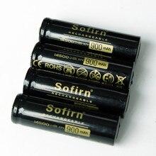 Sofirn 4 шт. 14500 900mAh литий-ионная аккумуляторная батарея батареи для светодиодный фонарик