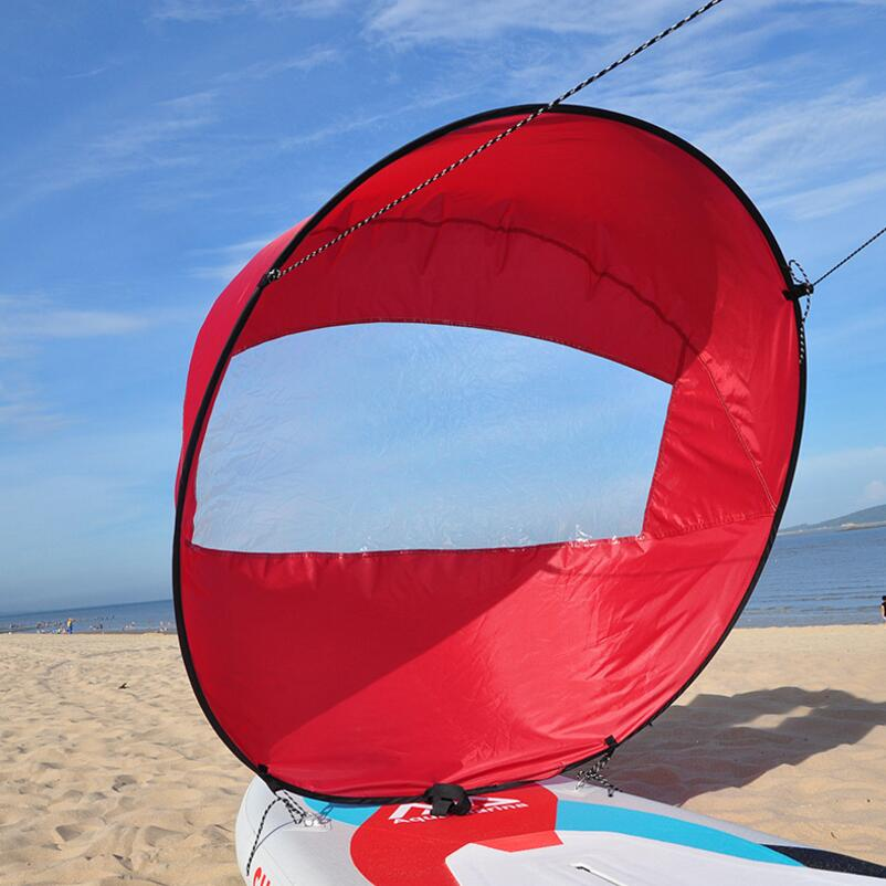 46 inch plus size windsurfing canoe kayak special sail sup board folding wind sail