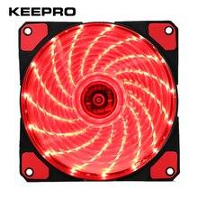 KEEPRO Original 15 Lights LED Silent Fan PC Computer Chassis Fan Case Heatsink Cooler Cooling Fan DC 12V 4P 3P 120*120*25mm