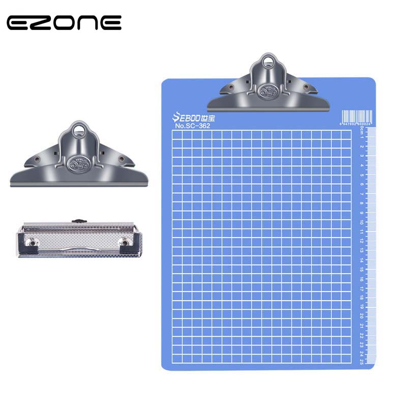 EZONE A4/A5/A6 Writing Clipboard Plastic Office File Clipboard Metal Clip Green/Blue Butterfly Clip 1PC High Quality Stationery