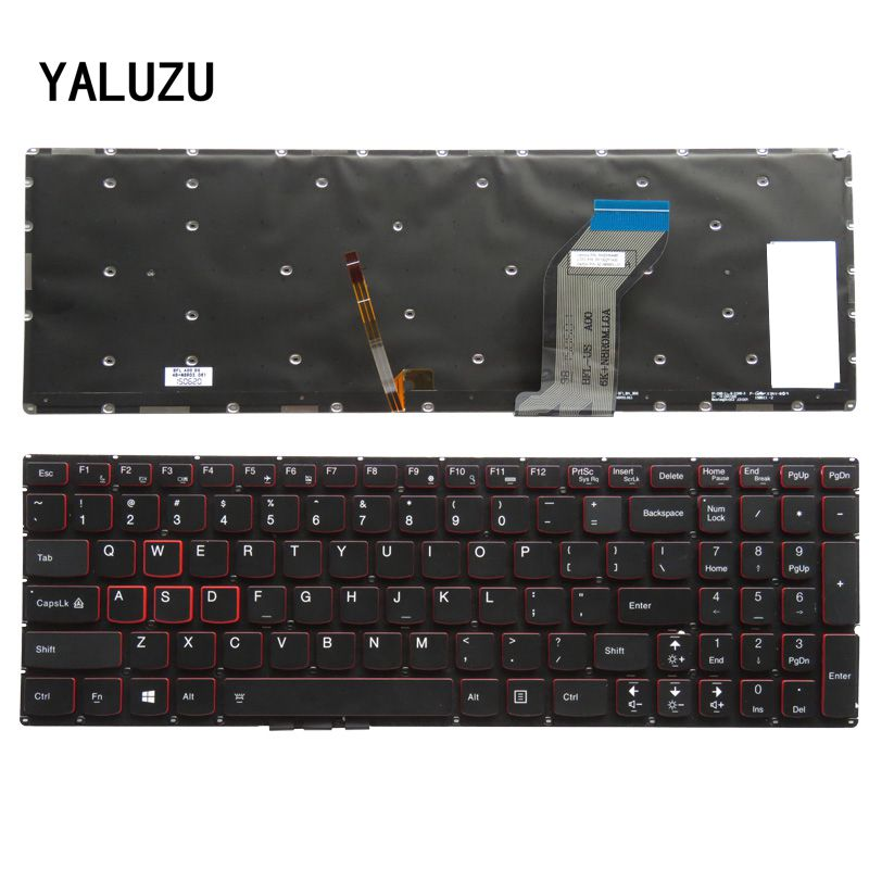 YALUZU English New Keyboard FOR Lenovo Y700 Y700-15ISK US laptop keyboard Backlight new laptop keyboard for lenovo 15 y700 15 isk y700 15isk y700 15 us layout