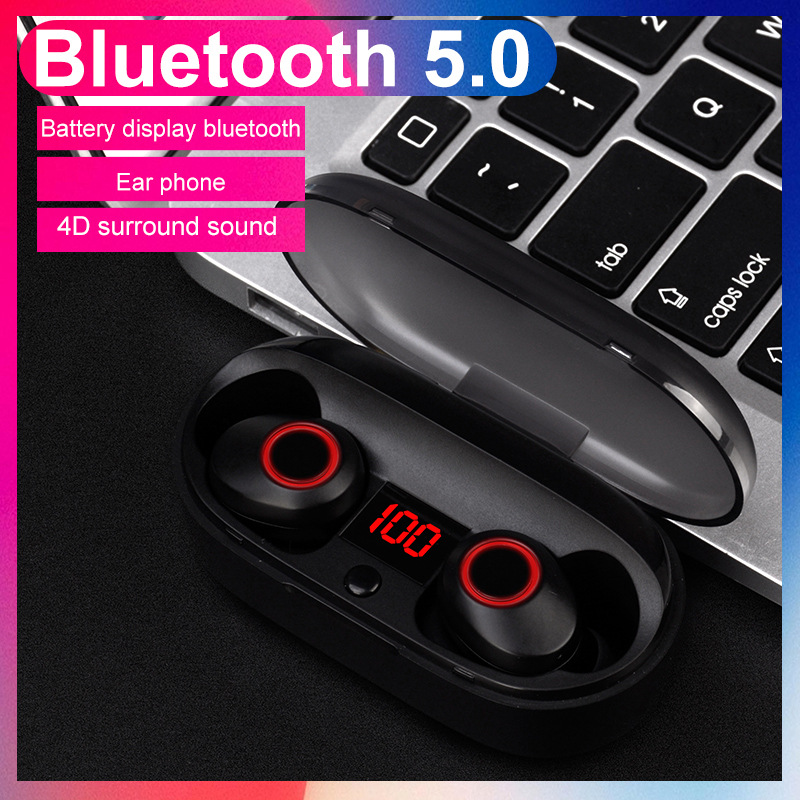 2018 new mini TWS IPX5 Wireless bluetooth waterproof and sweat earphone with microphone LED rechargeable box for IOS Android 2018 new mini tws wireless bluetooth5 0 ipx5 waterproof and sweat proof sports earphone with led charger box for mobile phone