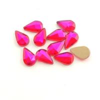 500pcs Top Quality 3D Nail Art Decorations Red AB Shaped Mixed Nail Art Tips Design Rhinestones For Nails Crystal Gems DIY