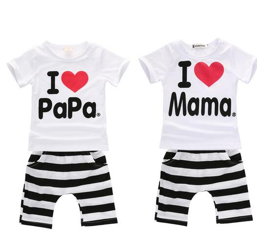 e93f5dac7 new 2019 boys and baby girls clothing set 100% cotton suit I Love ...