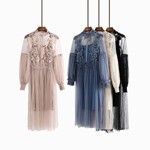 women sexy spring autumn dress beach maxi dress flower print boho bohemian dress gauze voile sexy