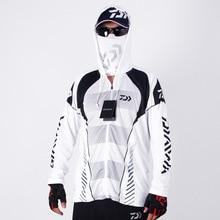 Мужская спортивная одежда для рыбалки Daiwa, уличная сетчатая дышащая мужская одежда с капюшоном, одежда для рыбалки Dawa Ice Silk, крутые рубашки для рыбалки
