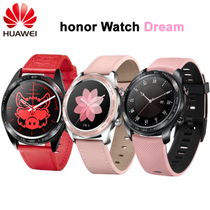 "New! Huawei Honor Watch Dream Smart Watch Sport Sleep Run Cycling Swimming mountain GPS 1.2"" AMOLED Color Screen 390*390 Watch(China)"