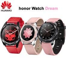 """Novo! Huawei relógio inteligente honor sonho, relógio colorido de 1.2 """", tela colorida de amoled para sono e ciclismo, natação, montanha e gps 390 relógio de pulso"""