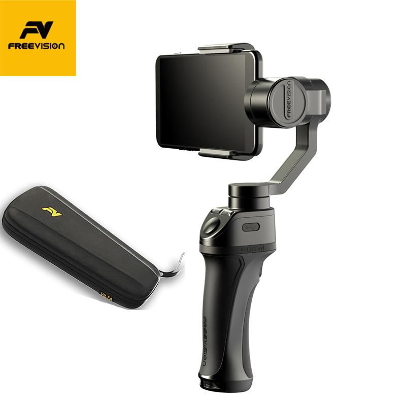 FREEVISION VILTA-M 3-Eixo Cardan Handheld Estabilizador de Smartphones para o iphone X XS 8 Samsung GoPro HERO 5 6 7 yi 4 K pk