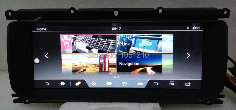 Ouchuangbo android 7.1 lecteur audio radio pour Land Range Rover Evoque 2011-2018 support bluetooth gps navigation mp3 2 GB + 32 GB