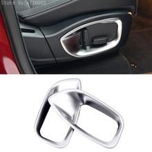 ABS Chrome z boku fotela regulacji guziki dekoracyjne dopasowane obramowanie ramki 2 sztuk dla Jaguar XE/F-tempo/XFL/XF X761 2016-2017