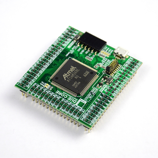 INHAOS ליבה בשל SAM3X8E 32 סיביות ARM Cortex M3 מיני מודול עבור Arduino תואם IoT MCU 512K פלאש 96K RAM 12Bit ADC DAC 84MHz