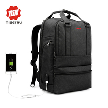 Tigernu 2017 Summer New Arrival 15 6inch Anti theft External USB charge Laptop Backpack School backpack