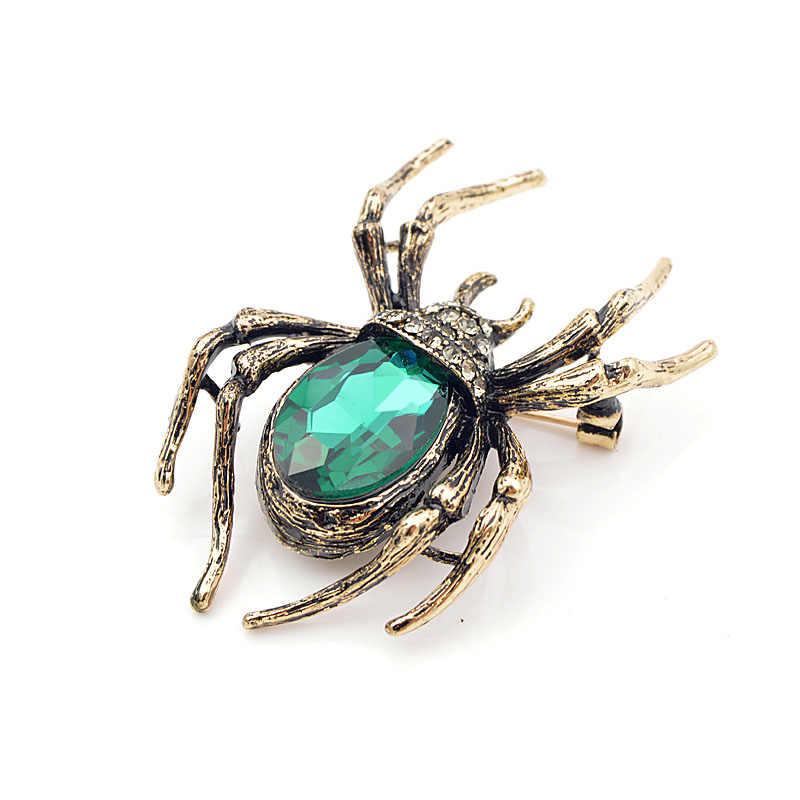 Cindy Xiang Bros untuk Wanita Klasik Spider Serangga Pin untuk Pria Leher Depan Pakaian Halloween Hadiah Perhiasan Charms 2018
