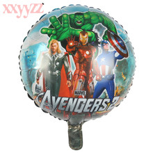XXYYZZ Spiderman Balloon Avengers Party Supplies Superhero Balloons Superman Baby Super Big Hero Birthday vengers balloons the avengers toys baloon ballons helium foil balloons party supplies superhero birthday party decoration avengers balloons
