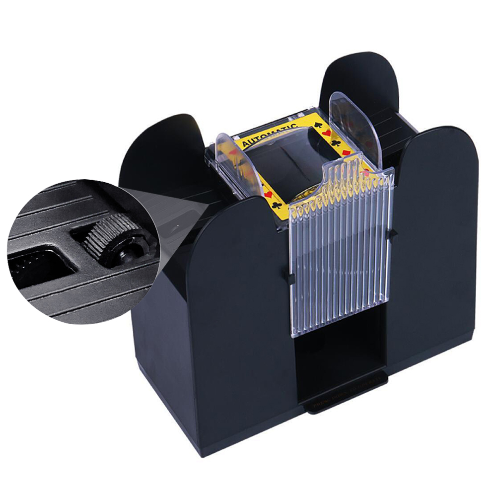 Battery Operated Playing Card 2-Deck Poker Hold/'em Blackjack Automatic Shuffler