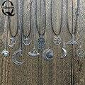 Nueva joyería de moda del acoplamiento de cadena om Elefante colgante ufo peces luna manos de anclaje collar de la estrella diseño de la mezcla para las mujeres chica bonito regalo