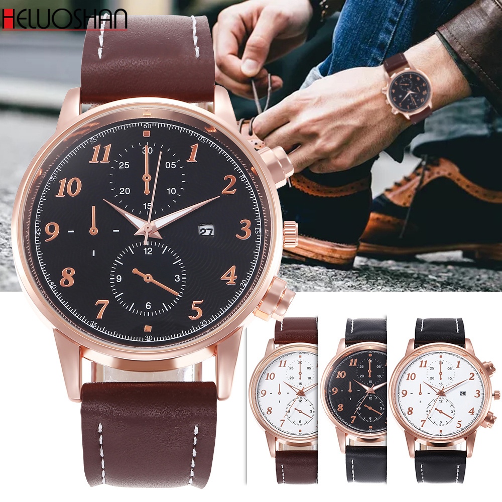 Hot Selling Montre Homme Men Sport Watch Head Army Clock Classic Leather Wathes High Quality Quartz-watch New Relogio Masculino