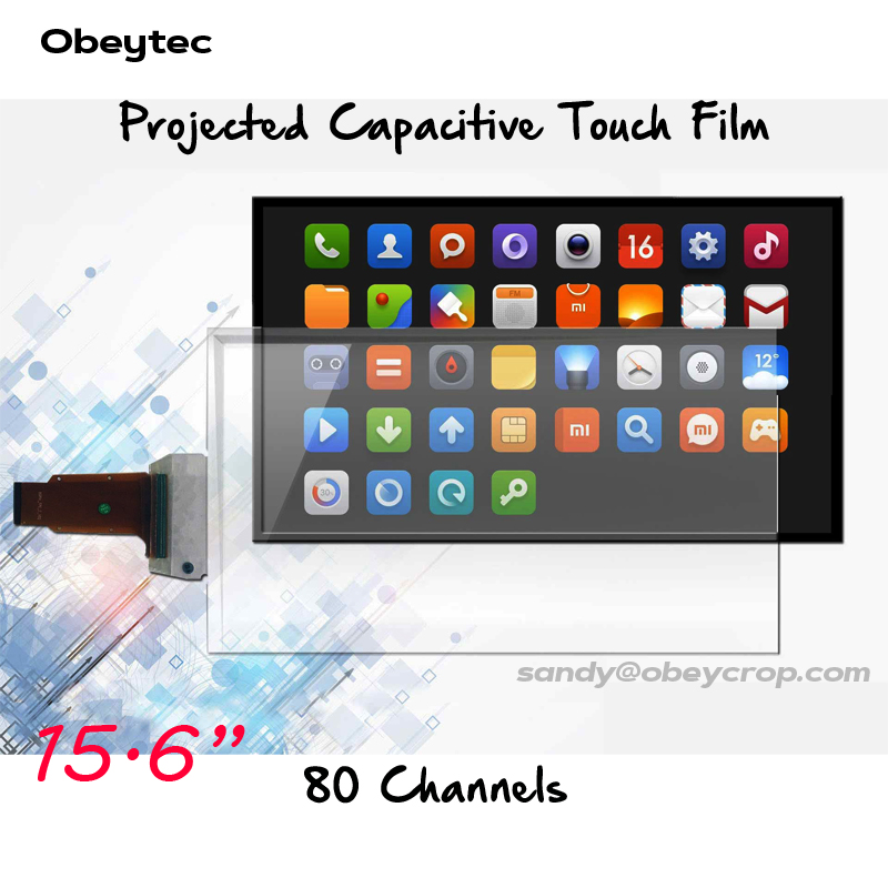 "2pcs 5% Off! Obeytec 15.6"" Interactive Touch Screen Film, 10 touch points, USB Port, Support Android, Linux, Windows"