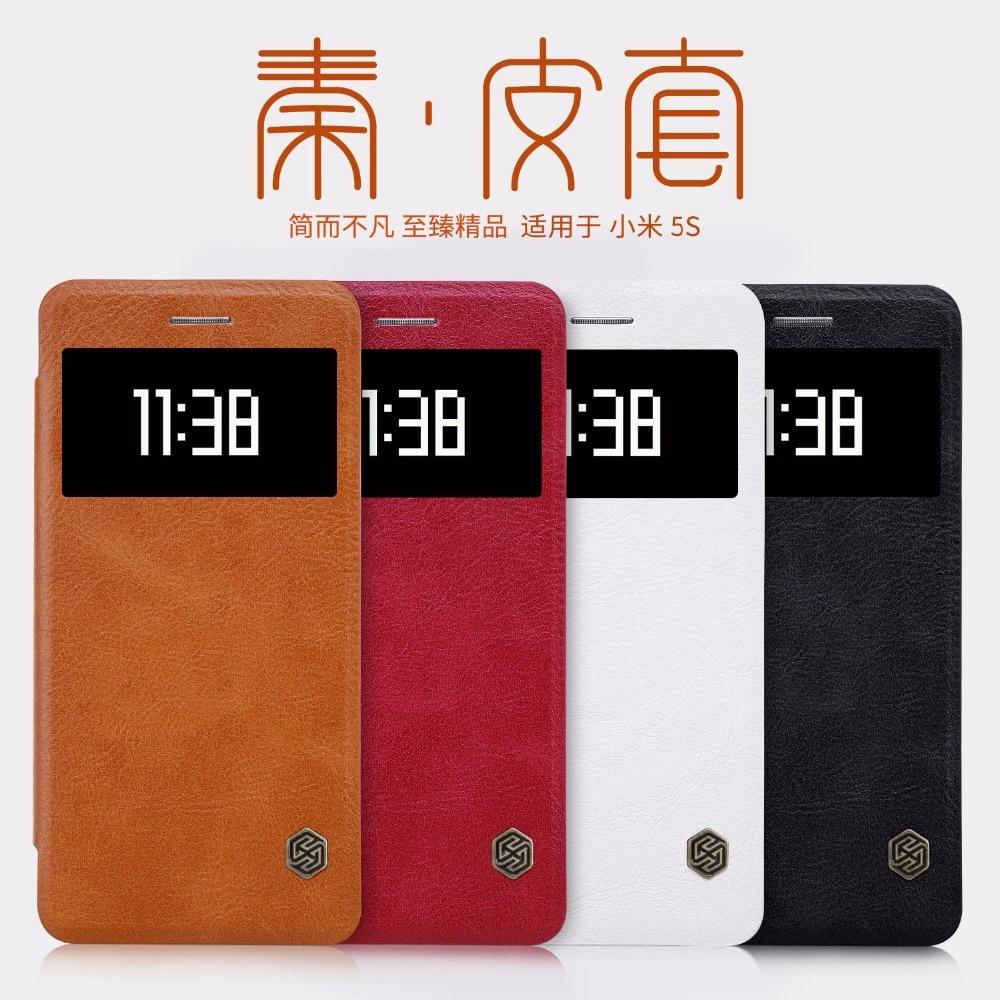 Xiaomi 5s Case Nillkin Genuine Wallet Leather Cover For Love Mei Powerful Bumper Mi Note 2 Original 100 Mi5s Phone Funda Sskin Cases Coque
