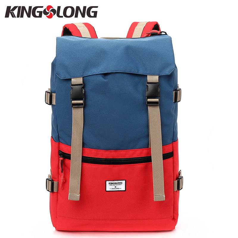 KINGSLONG Travel Men წყალგაუმტარი სატრანსპორტო ჩანთა America Backpack for Laptop მამრობითი დიდი ტევადობის მოზარდისთვის KLB1342-6