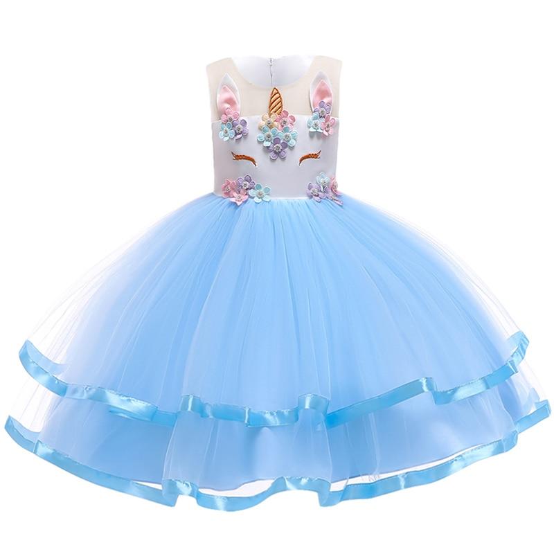 HTB17AFiadfvK1RjSszhq6AcGFXah New Girls Dress 3Pcs Kids Dresses For Girl Unicorn Party Dress Christmas Carnival Costume Child Princess Dress 3 5 6 8 9 10 Year