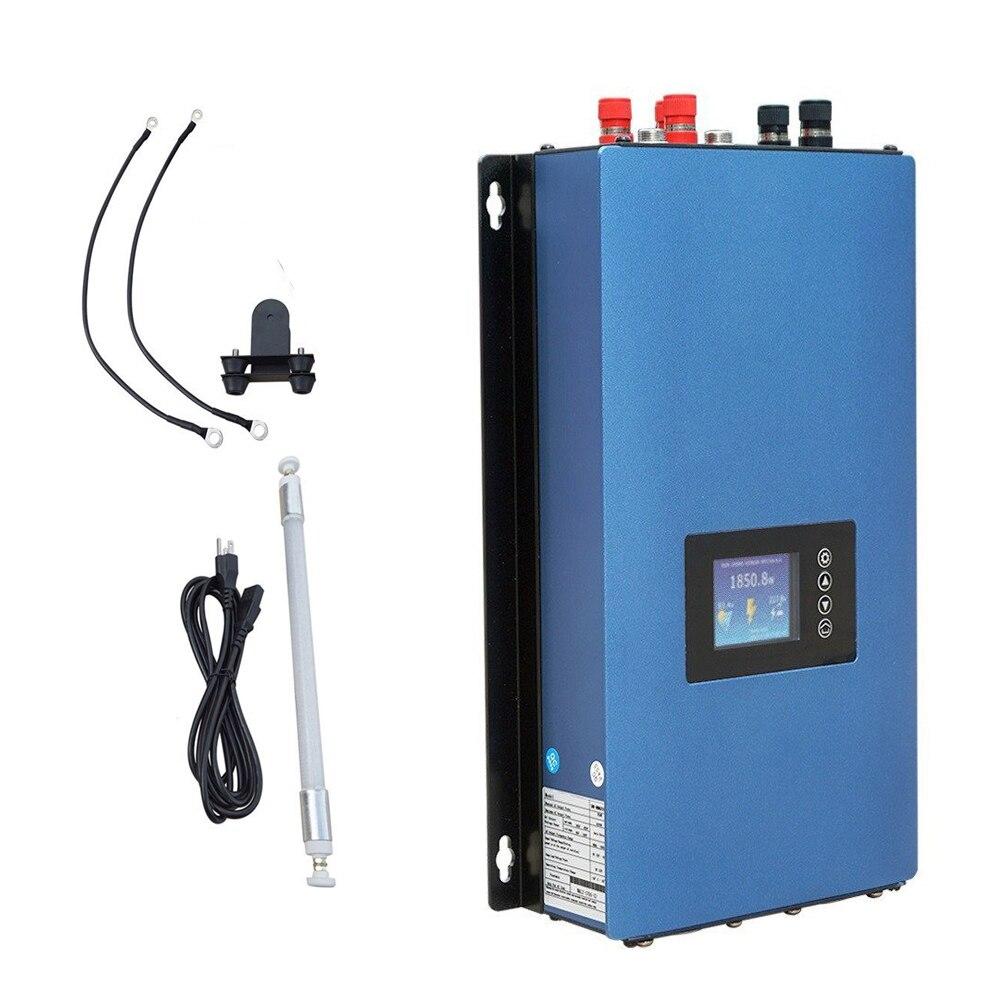 Générateur de turbine de vent de sortie à onde sinusoïdale Pure de l'inverseur 1000 W MPPT de grille avec la résistance de charge d'affichage à cristaux liquides et de décharge, 22-60 V/45-90 V
