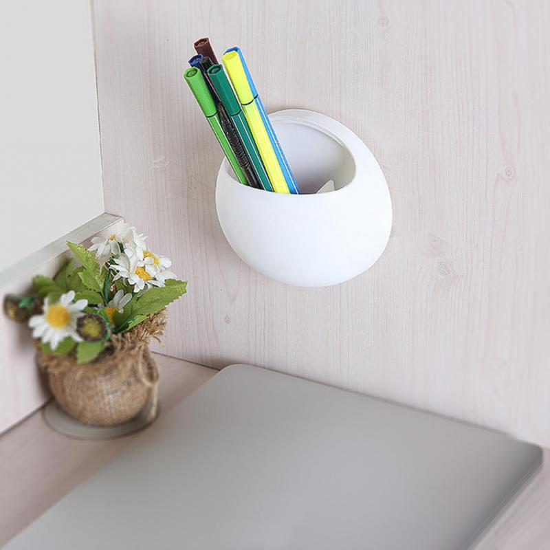 Image 5 - Toothbrush Holder Pen Glasses Holder Wall Suction Cups Shower Holder Cute Sucker Suction Hooks Bathroom Accessories Set #0305-in Toothbrush & Toothpaste Holders from Home & Garden