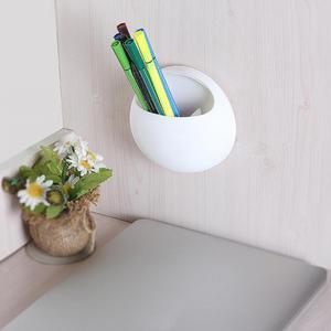 Image 5 - Zahnbürste Halter Stift Gläser Halter Wand Saugnäpfe Dusche Halter Nette Sucker Saug Haken Badezimmer Zubehör Set #0305