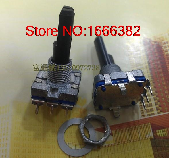Electrical Plug 360 Degree Encoder Switch Ec16-24 Bit 25mm Semi-axis Step-by-step Rotary Volume Pulse Encoder Switch Quality First