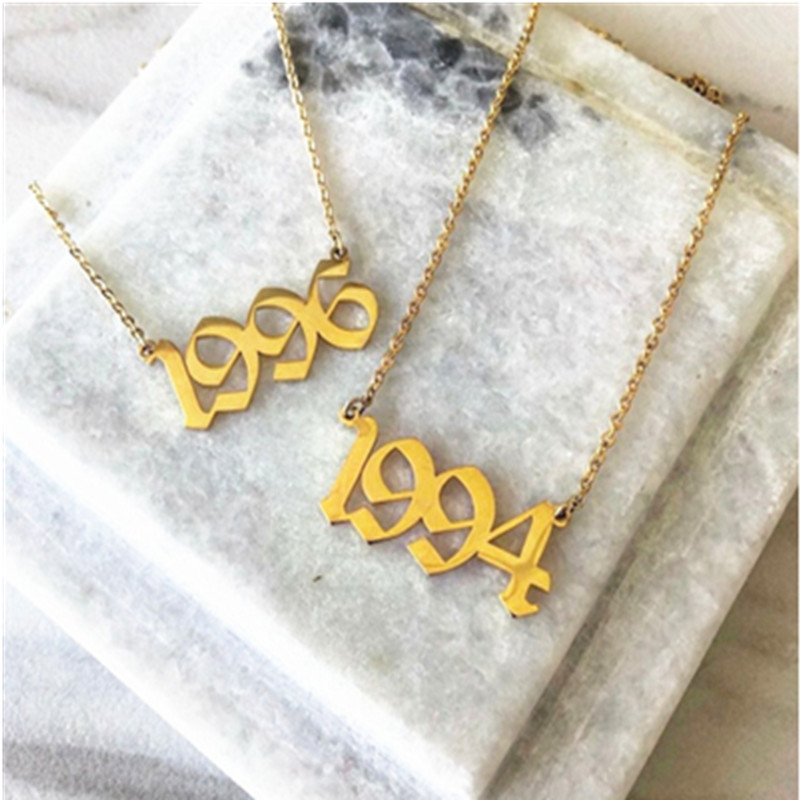 Персонализированное свадебное ожерелье с датой юбилей 2001 2002 2003 2004 2005 2006 2007 2008 на заказ год рождения ожерелья BFF
