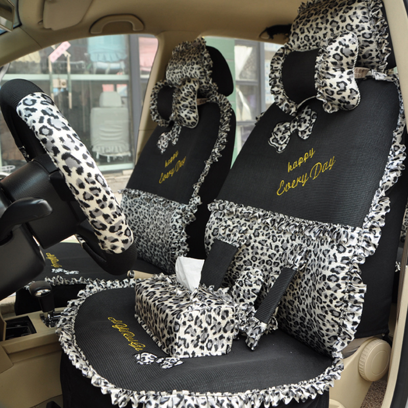 Regal Car Seat Covers Cartoon Viscose Summer Cover Leopard Print Lace Set Of Four Seasons Female In Automobiles From