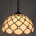 12 дюймов Тиффани-барокко витражный подвесной светильник E27 110-240 В цепочка подвесные светильники для дома гостиная столовая