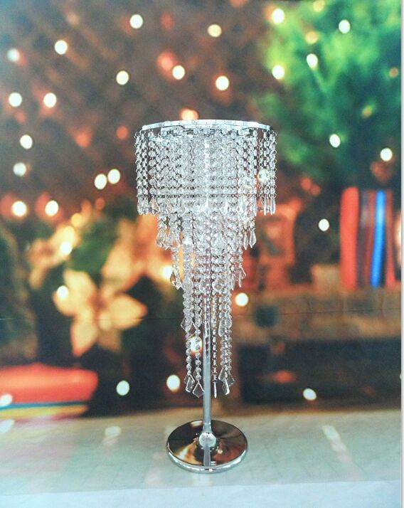 Delightful Free Shipping Acrylic Crystal Wedding Centerpiece / Table Centerpiece 80cm  Tall * 35cm Diameter 5 Tier Wedding Decor Road Leads In Party DIY  Decorations ...