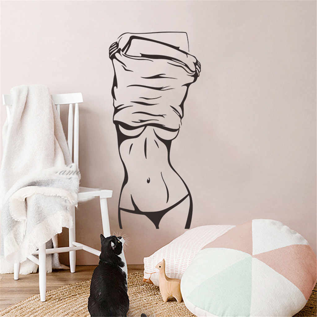 Sexy Girl Vinyl Wall Decal Sticker Fashion Sexy Woman Mural Wall Sticker Clothes Store Beauty Salon Bedroom Room Decor Murals