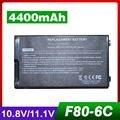 4400mAh laptop battery for Asus 07G0165U1875M A32-F80 F80 N60 X82 F80Cr N60D X82C F80s N60Dp X82CR F81 N60W X82L F81E N60WT X82Q