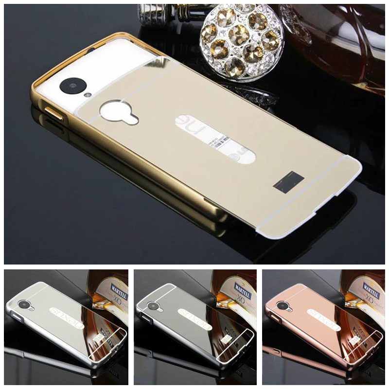 For LG Nexus 5 Case Plating Mirror Aluminum Metal Frame Bumper + Hard PC Back Cover For LG Nexus5 D820 D821 EP80 Phone Cases