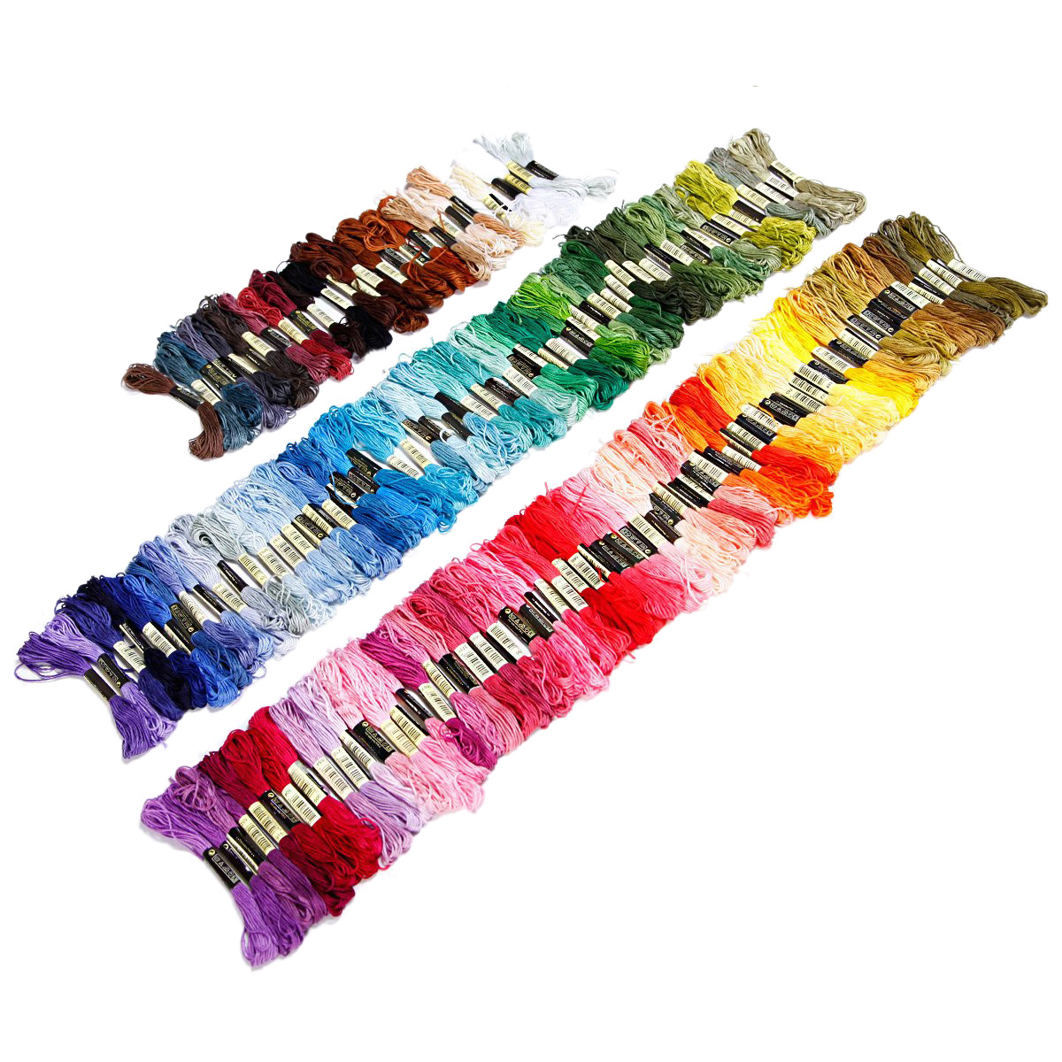 UESH-150 madejas de multicolor hilo de bordado para punto de cruz