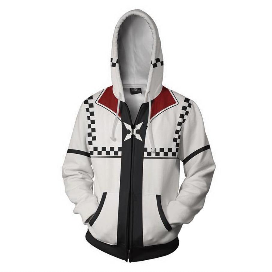2018 new Autumn Winter 3D print Kingdom Hearts Sweatshirts Hoodies Fashion Cosplay Zipper hooded Jacket clothing