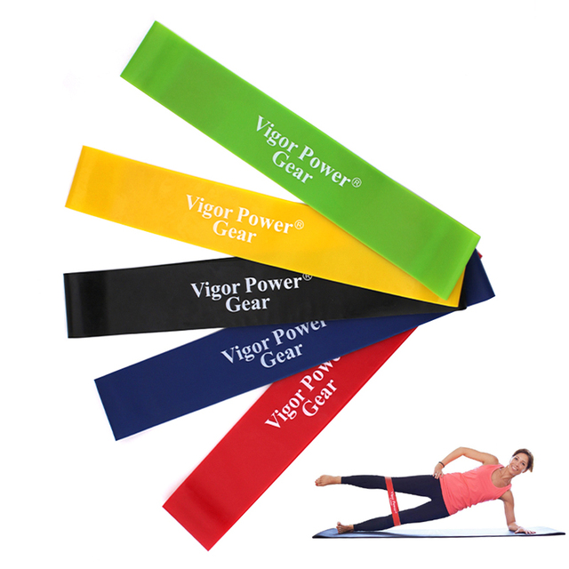 US $2 57 5% OFF|Vigor Power Gear 5 Levels Pull Up Expander loop Fitness  rubber loop Yoga Resistance bands Loop Bands sold in 1 pc-in Resistance  Bands