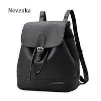 Nevenka Fashion Women Backpack Casual Brand Design Backpack PU Leather Backpacks Style Shoulder Bag CrossbodyBag Softback Sac