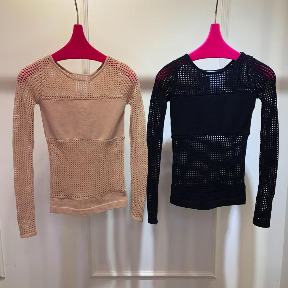 Kadın Giyim'ten Kazaklar'de Yüksek kalite kadın hollow streç örme kazak 2 renk rmsx 6.04'da  Grup 1