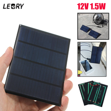 Claite 12v 1.5ワットミニ多結晶ソーラーパネルdiyエポキシ太陽電池シリコンバッテリーパワーバンク充電器ソーラーモジュールシステム